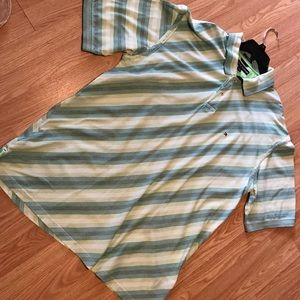Tommy Hilfiger Green Striped Polo Shirt XXL